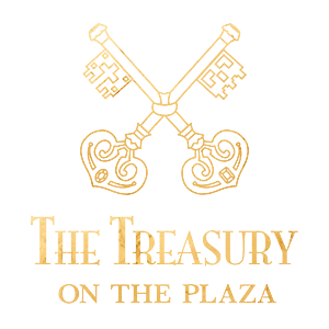 Treasury on the Plaza Gold Logo