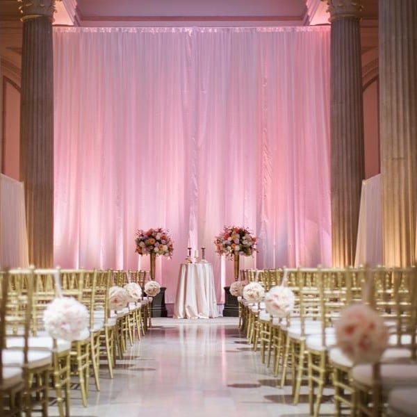 Wedding ceremony setup at The Treasury on the Plaza