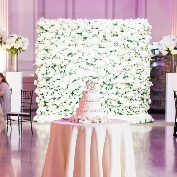 Floral Wall Reception at The Treasury on The Plaza