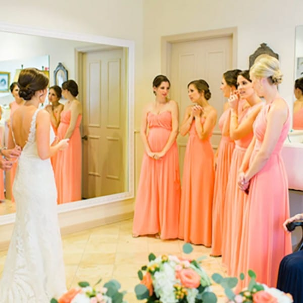 Bride and Bridesmaids in Bridal Suite at The Treasury on The Plaza