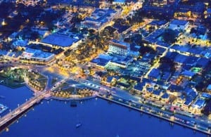 St. Augustine at night from above