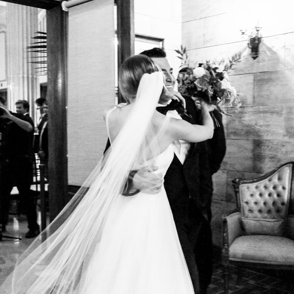 Bride and Groom Kiss At St. Augustine Wedding Ceremony