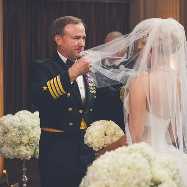 Father Daughter Wedding Ceremony Photo at The Treasury on The Plaza