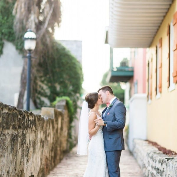 Bride and Groom in St. Augustine