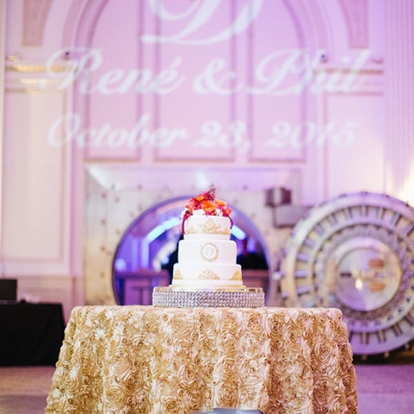 Wedding Reception Cake Table