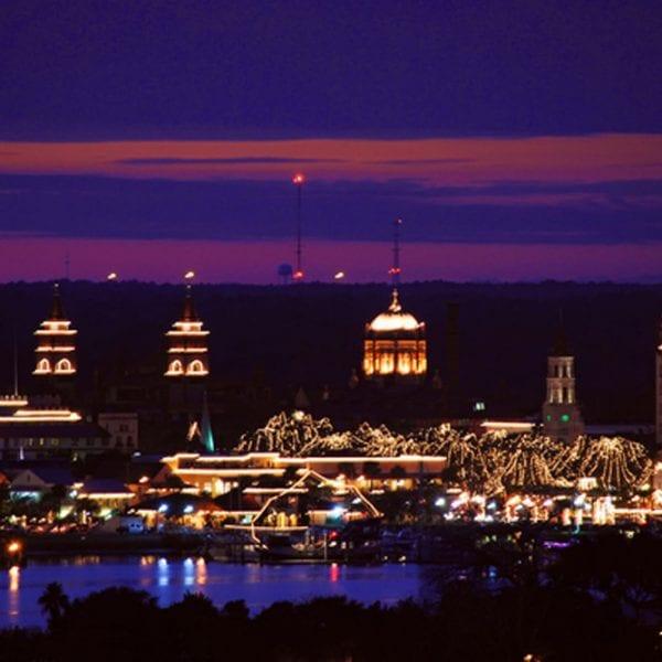 St. Augustine during Nights of Lights celebration