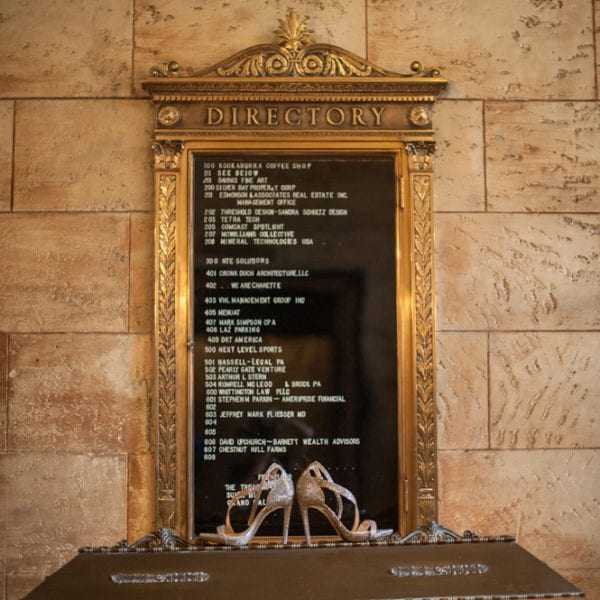Treasury Directory with Wedding Shoes