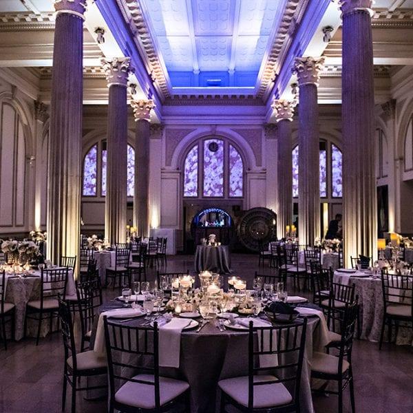 Purple Wedding Reception at The Treasury on The Plaza St. Augustine