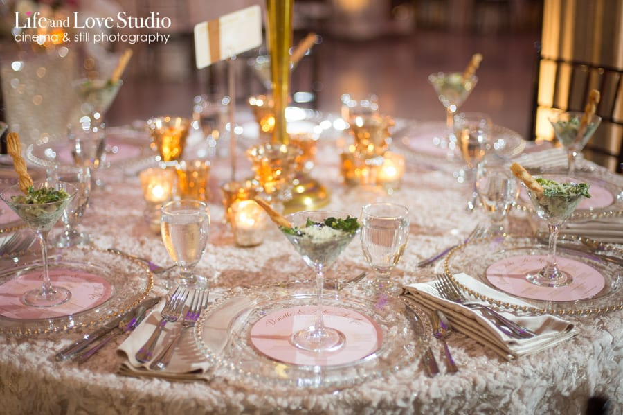 Wedding table setting photo at The Treasury on The Plaza St. Augustine