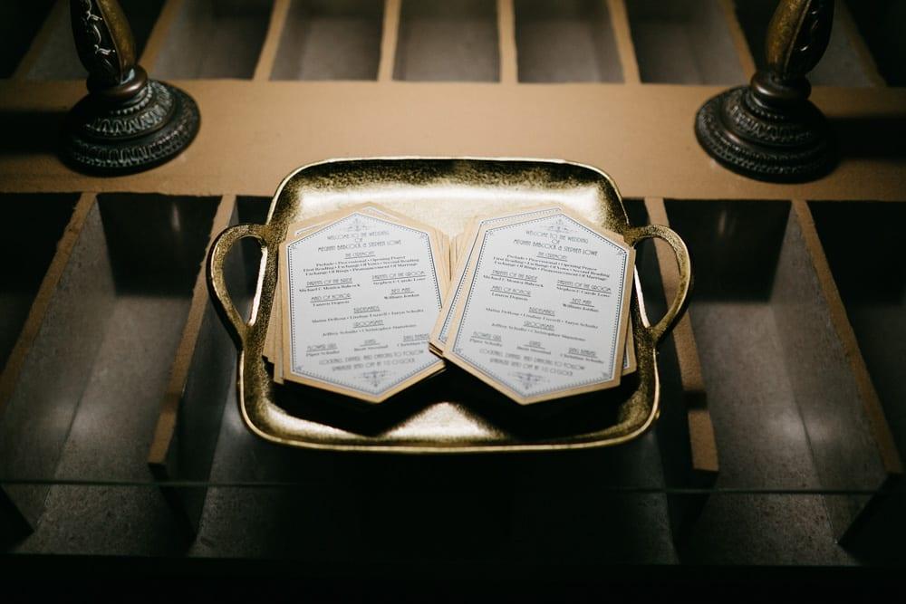 Wedding Ceremony Programs | Treasury On The Plaza | Treasury Venue Collection | St. Augustine
