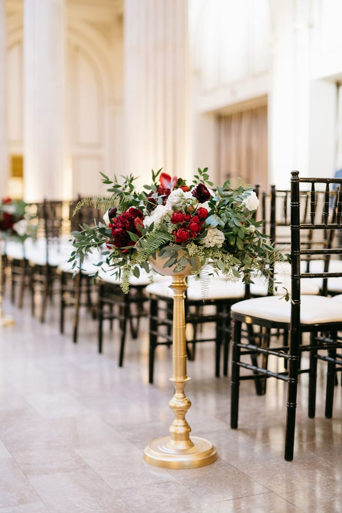 Wedding Ceremony Decor | Treasury On The Plaza | Treasury Venue Collection | St. Augustine