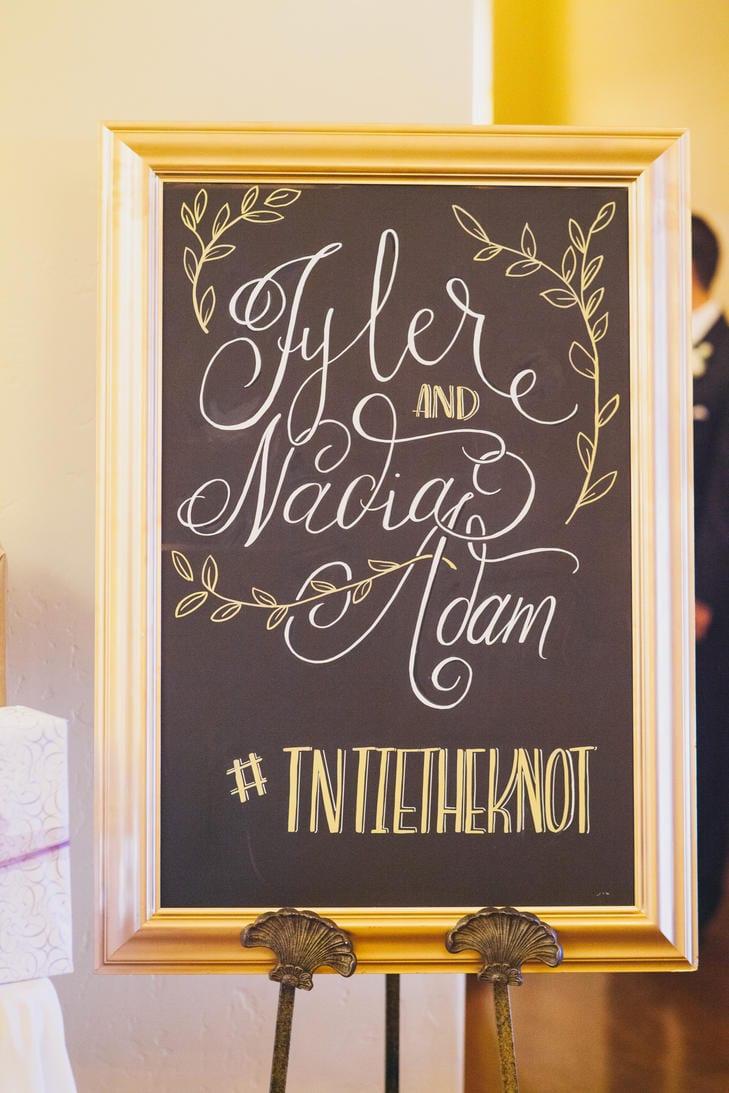 Wedding Ceremony Hashtag Sign