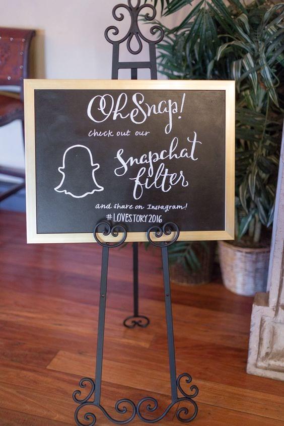 Wedding Snapchat Filter Sign