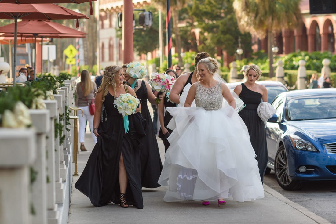Bride in St. Augustine getting ready