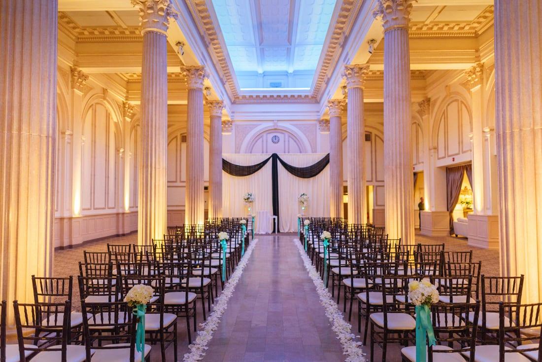 Wedding ceremony at The Treasury on the Plaza