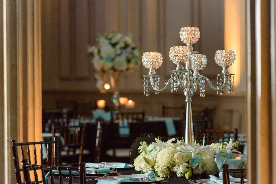 Tiffany blue wedding reception decor