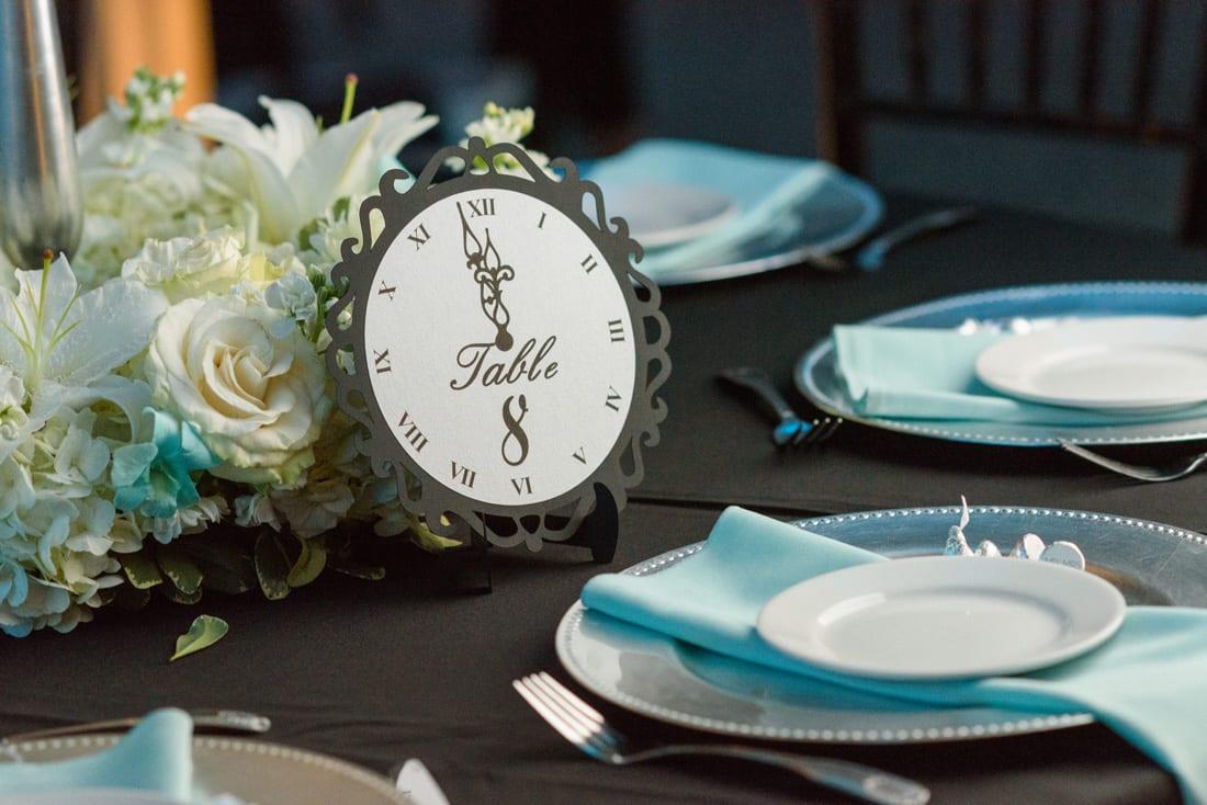 Tiffany blue New Year's Eve Wedding