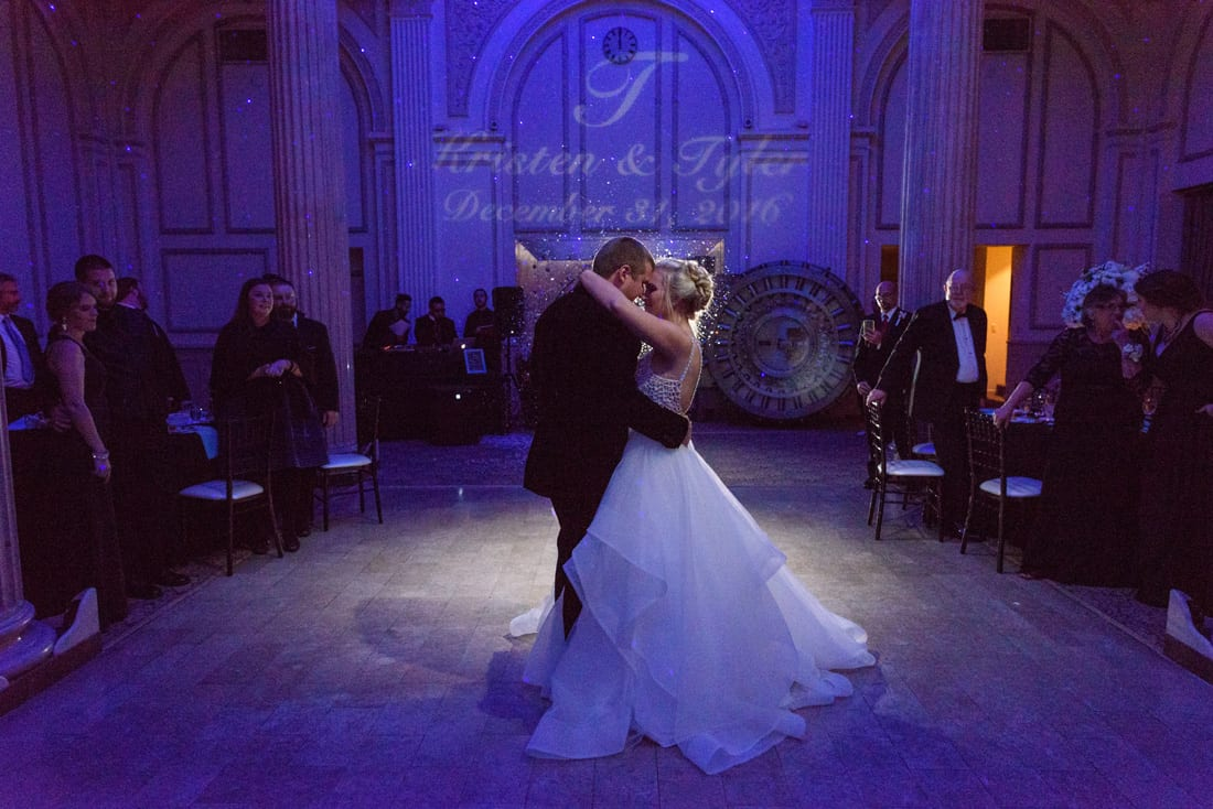 New Year's Eve wedding last dance