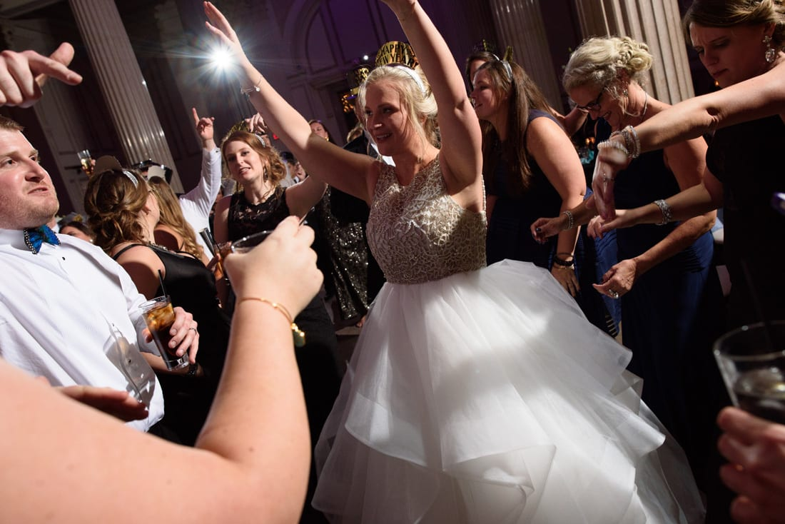 Dancing during New Year's Eve Wedding