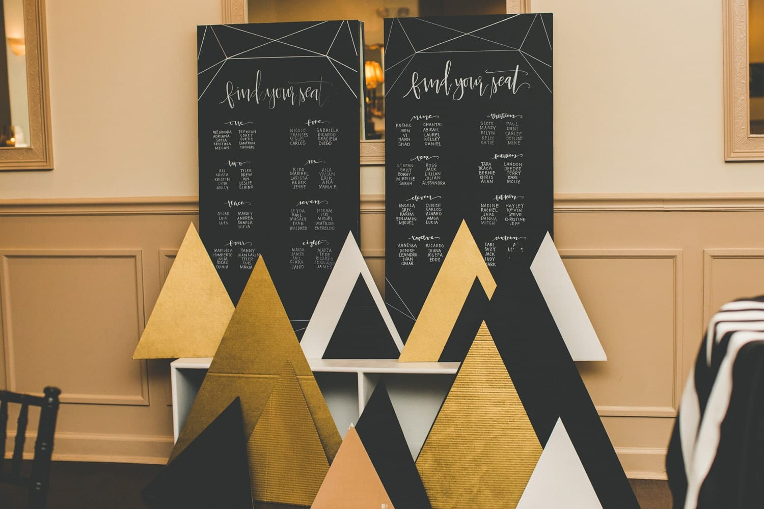 Table numbers | Modern St. Augustine Wedding at The Treasury on The Plaza