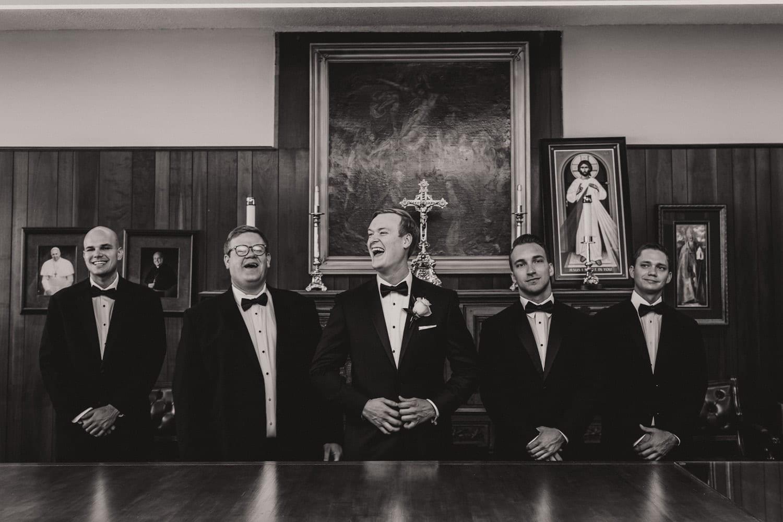 Groomsmen Portrait | Modern Geometric Wedding in St. Augustine at The Treasury on The Plaza