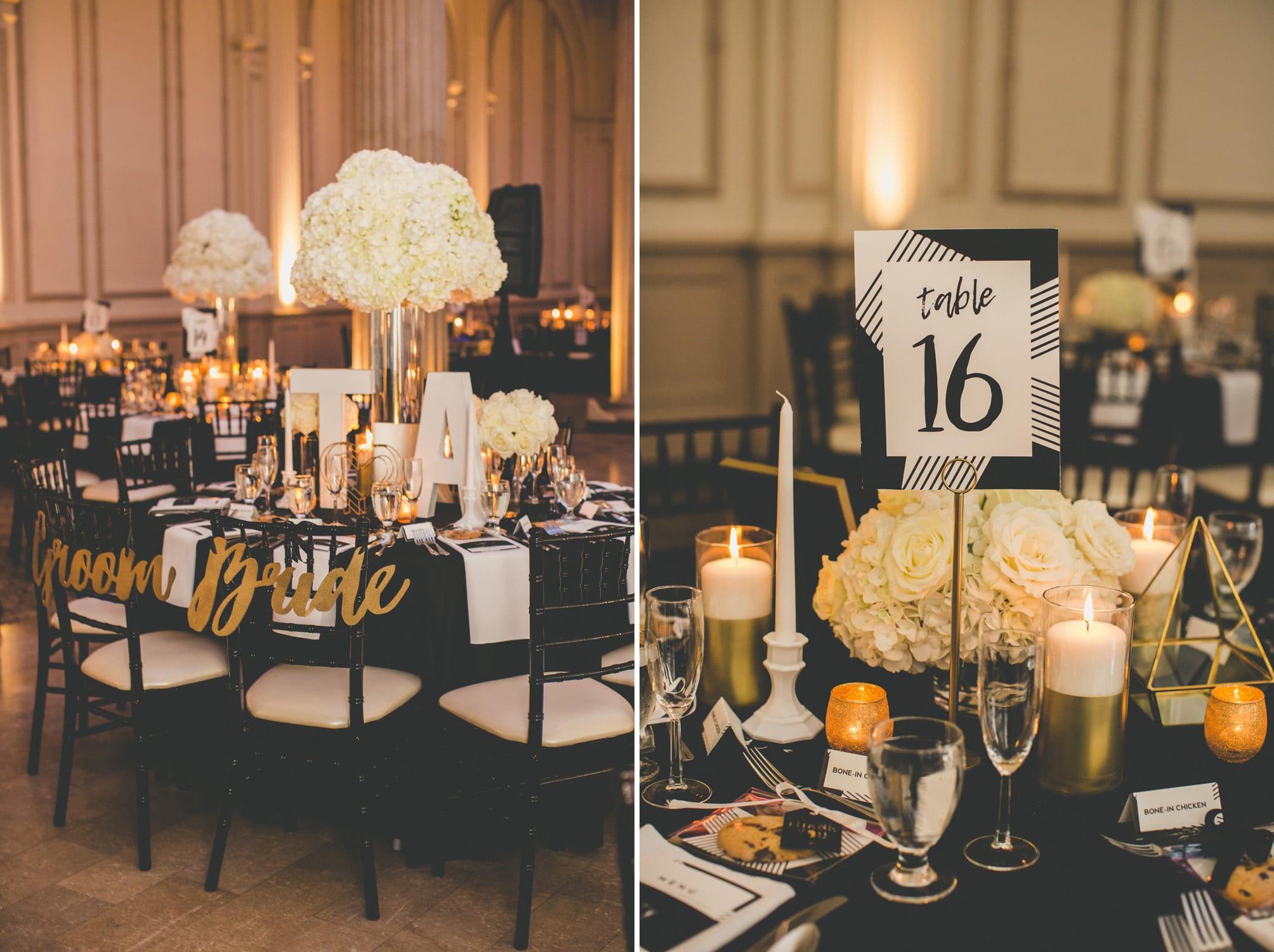 Reception setup | Modern St. Augustine Wedding at The Treasury on The Plaza