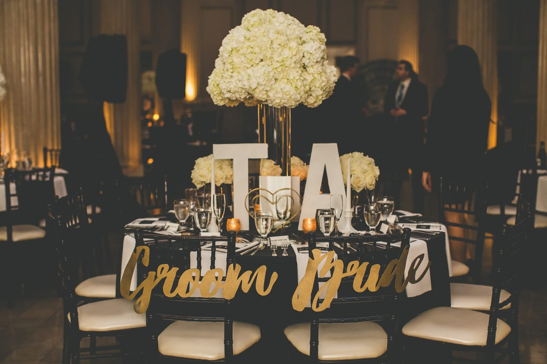 Reception setup   Modern St. Augustine Wedding at The Treasury on The Plaza
