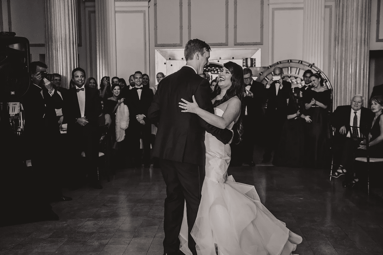 First dance | Modern St. Augustine Wedding at The Treasury on The Plaza