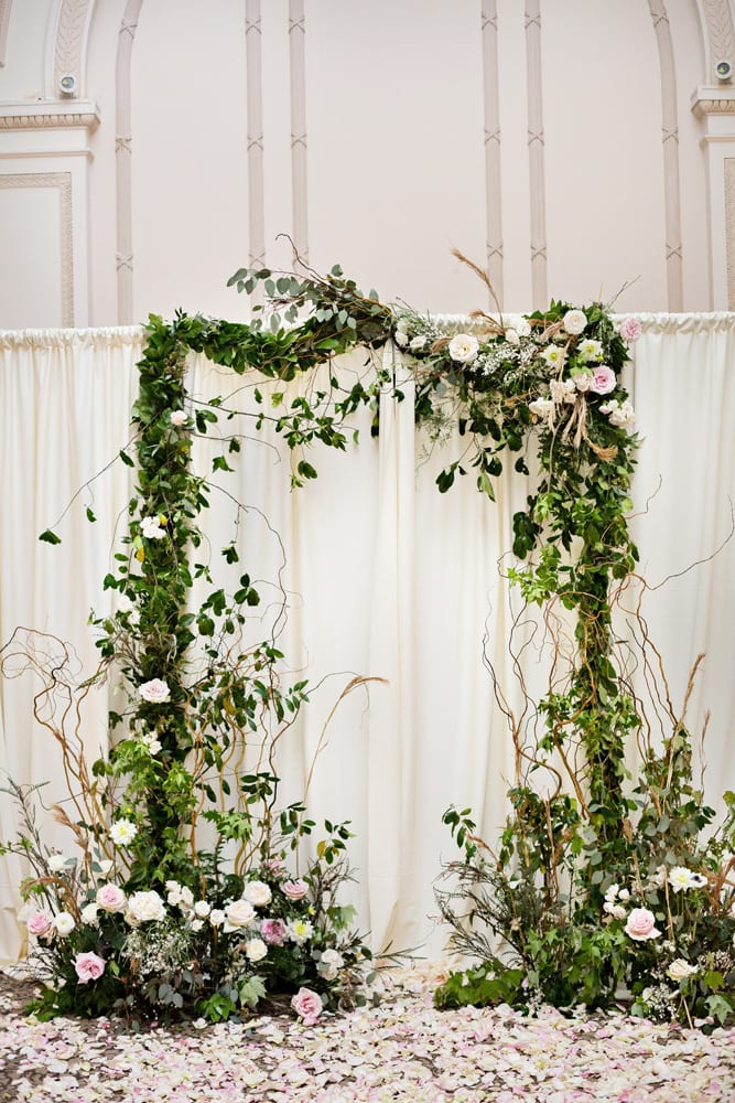 Wedding Ceremony Arch | A Romantic Modern Wedding At The Treasury on the Plaza, St. Augustine