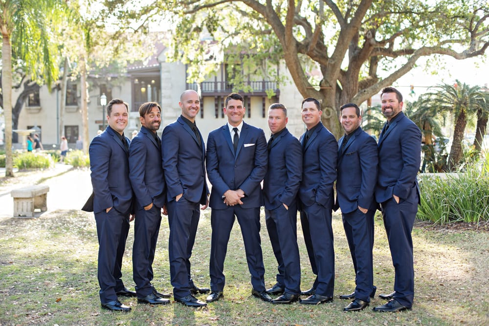 Groomsmen Tuxes | A Romantic Modern Wedding At The Treasury on the Plaza, St. Augustine