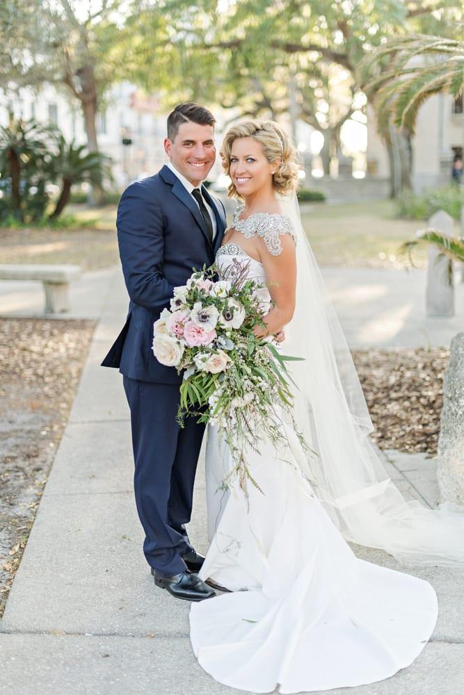 Wedding Portraits | A Romantic Modern Wedding At The Treasury on the Plaza, St. Augustine