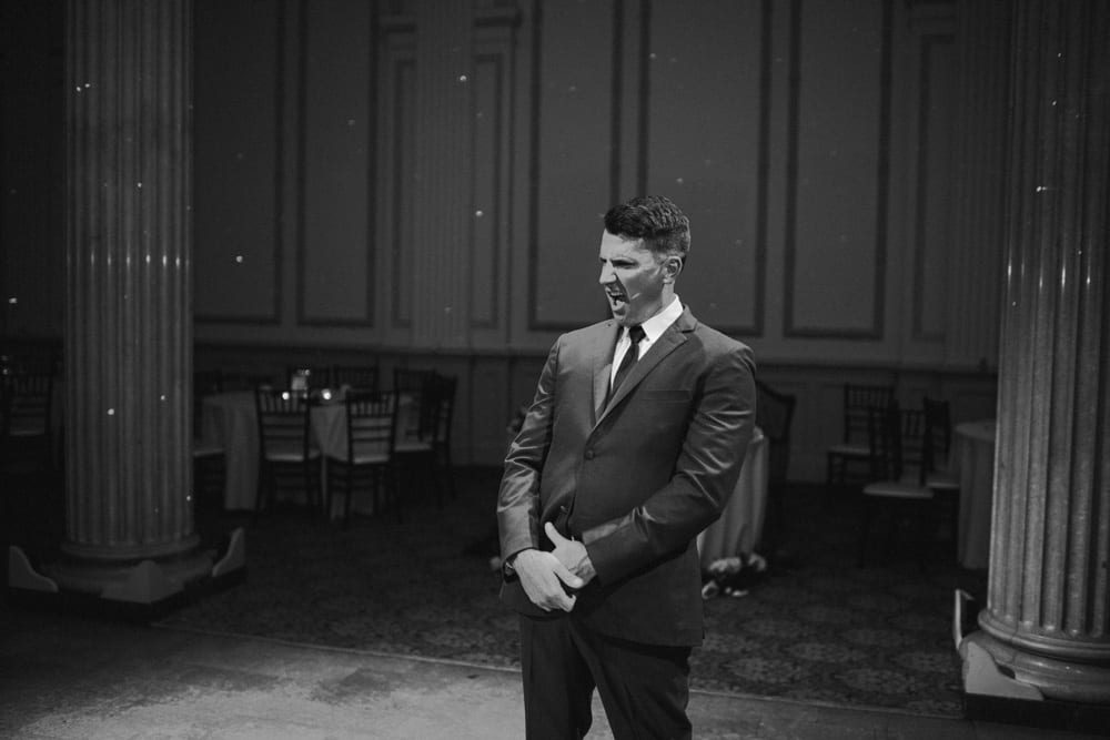 Groom Reactions | A Romantic Modern Wedding At The Treasury on the Plaza, St. Augustine