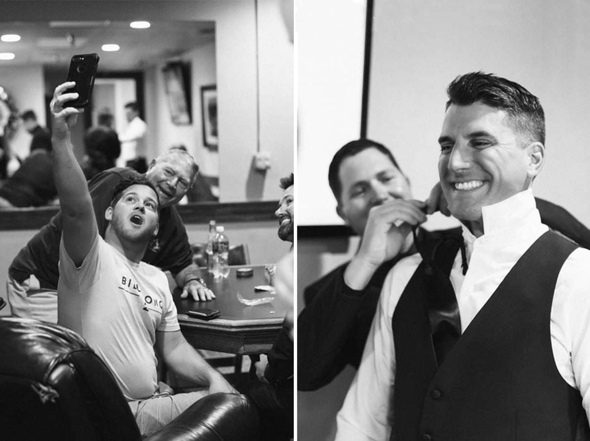 Groomsmen get ready Groom's suite | A Romantic Modern Wedding At The Treasury on the Plaza, St. Augustine