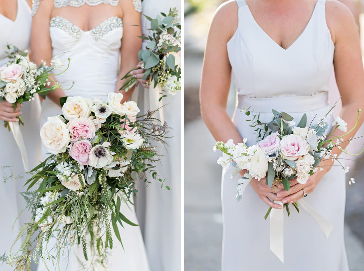 Bridal and Bridesmaid Bouquets | A Romantic Modern Wedding At The Treasury on the Plaza, St. Augustine