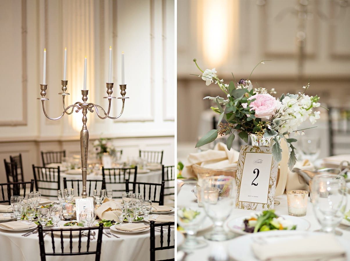 Wedding Table Decor | A Romantic Modern Wedding At The Treasury on the Plaza, St. Augustine