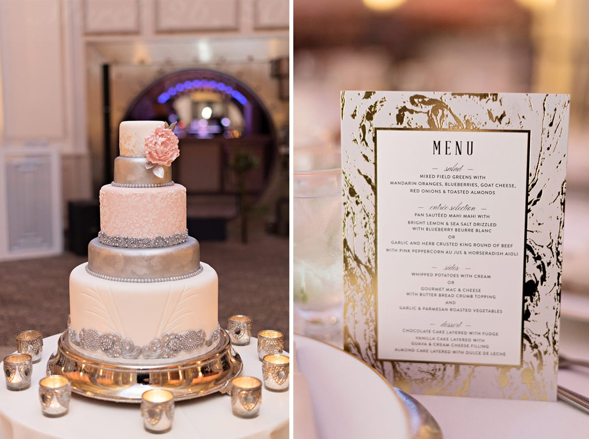 Wedding Cake | A Romantic Modern Wedding At The Treasury on the Plaza, St. Augustine