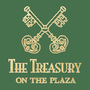 Treasury on the Plaza Gold Logo