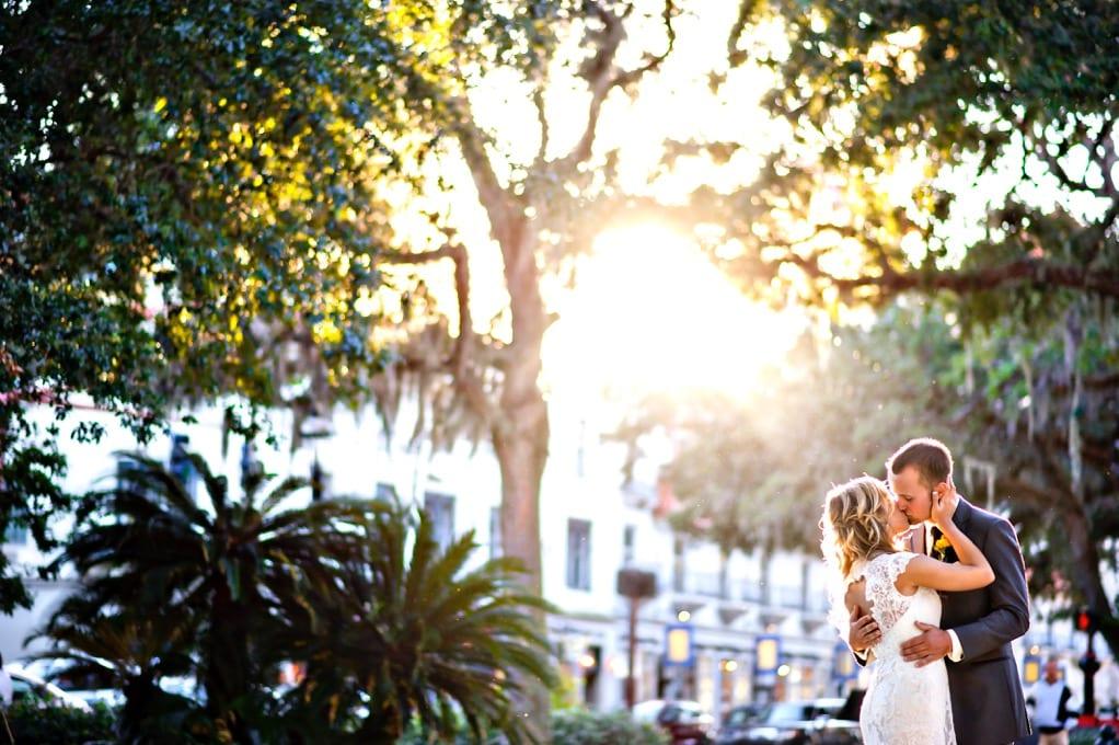 Bride and groom in Saint Augustine