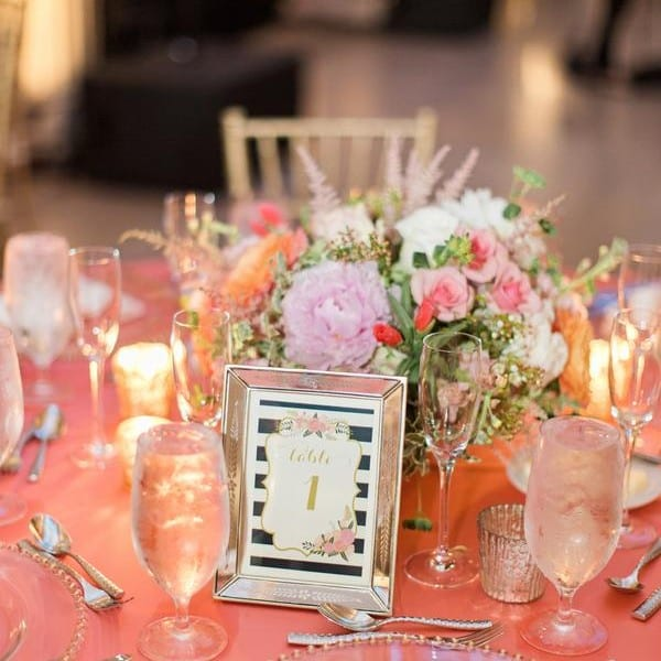Beautiful Table Decor and Table Numbers