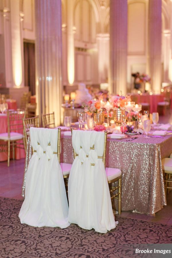 gold glitter wedding linen inspiration