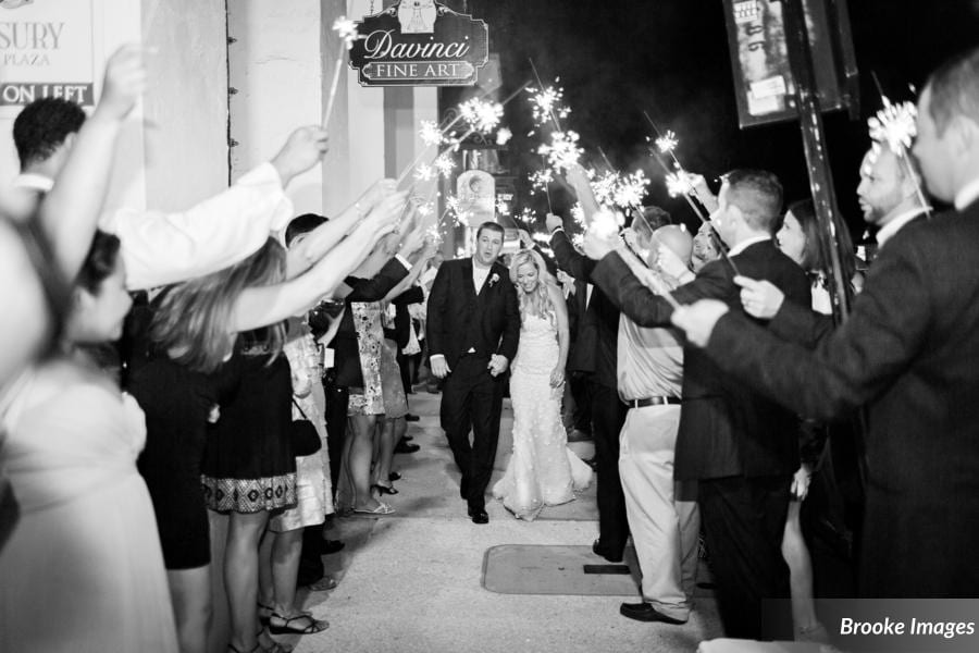 Sparkler exit at The Treasury on the Plaza St. Augustine
