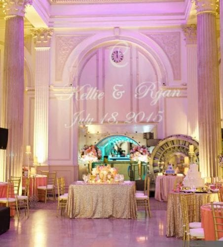 Gold and Blush St. Augustine Wedding at The Treasury on The Plaza