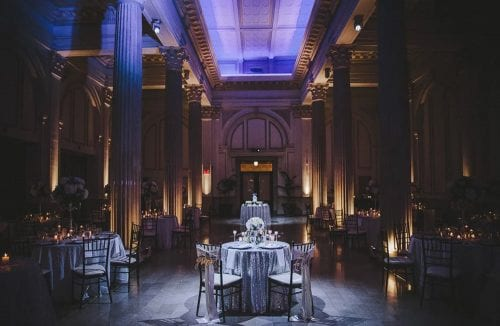 Purple and Gold St. Augustine Wedding Reception Venue The Treasury on the Plaza