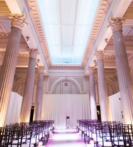St. Augustine Wedding Ceremony with draping at The Treasury on The Plaza