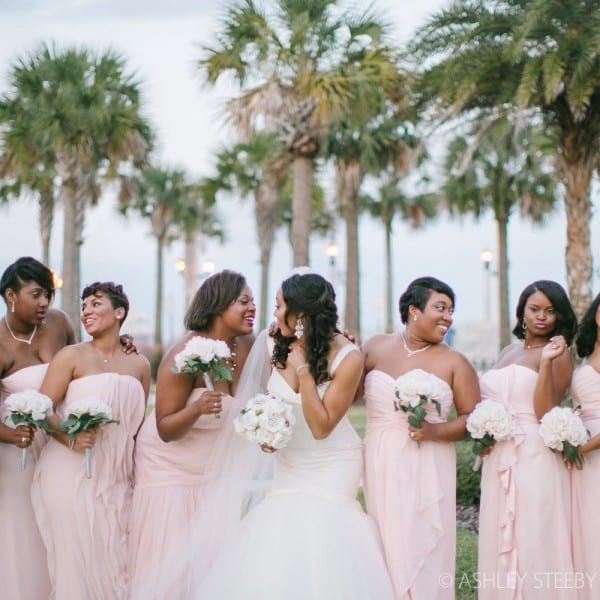 Bride and Bridesmaids in St. Augustine