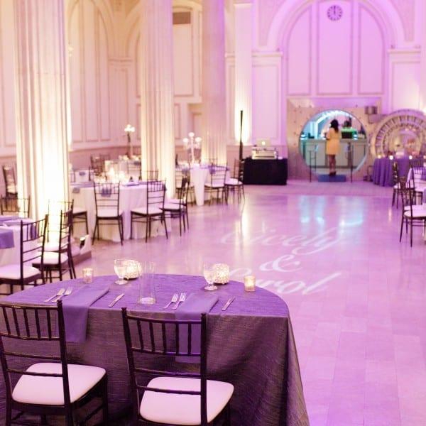 Purple Wedding Reception in Grande Ballroom