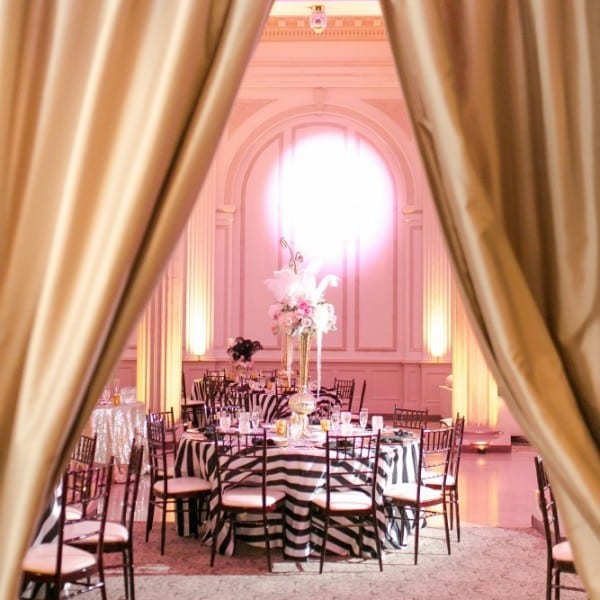 Zebra Wedding Reception at The Treasury