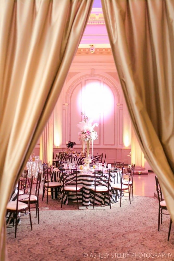 Zebra Wedding Reception at The Treasury
