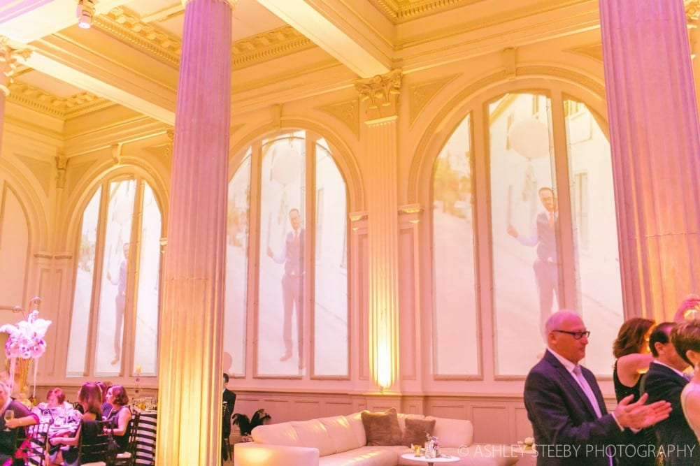Wedding Video Projection on ballroom walls of The Treasury on The Plaza