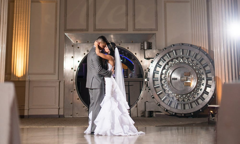 First dance in front of vault bar